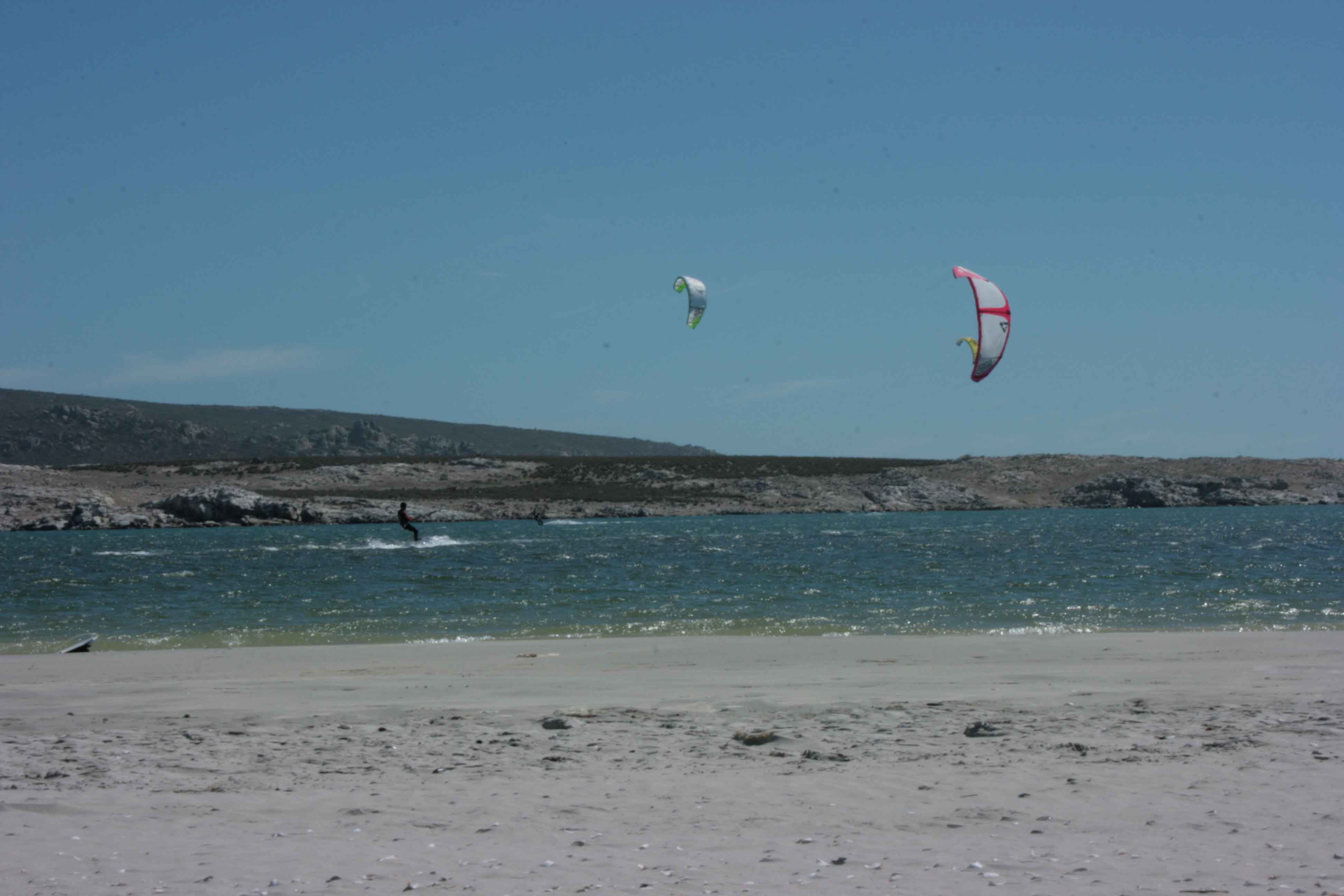 Kitesurfing Langebaan Main Beach