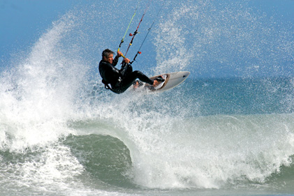 wave kitesurfing South Africa