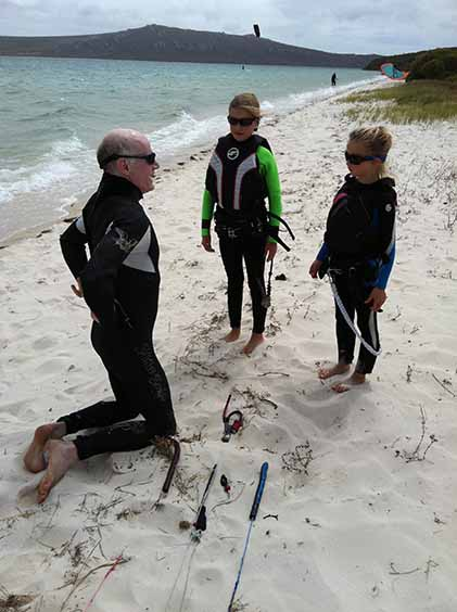kitesurfing course for children