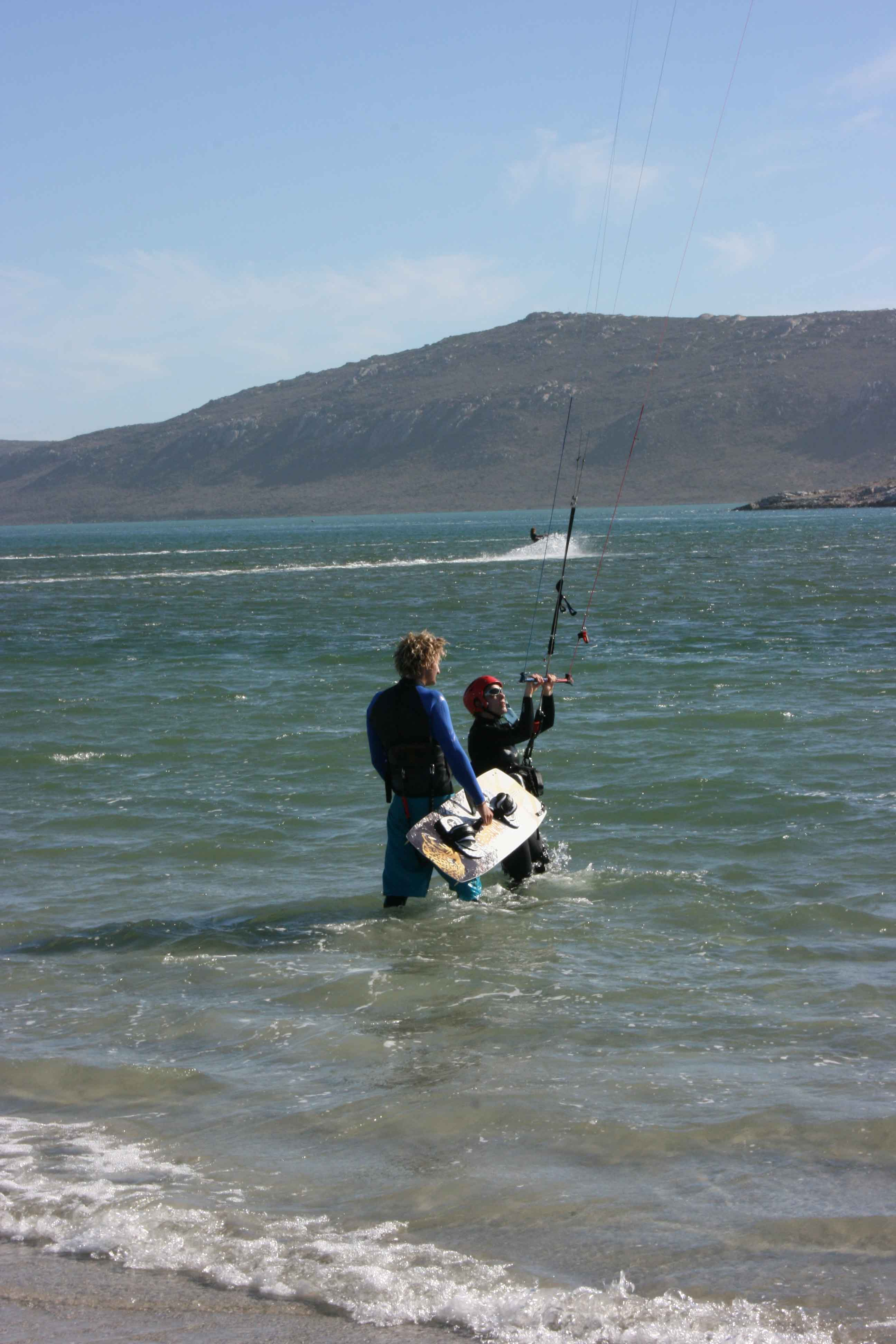 Kiteboarding Langebaan Main Beach