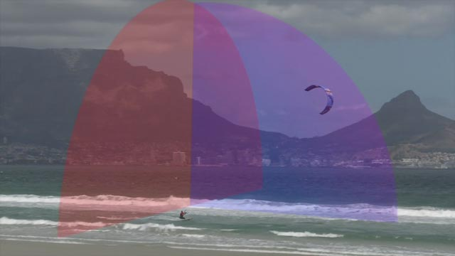 Wave kite course