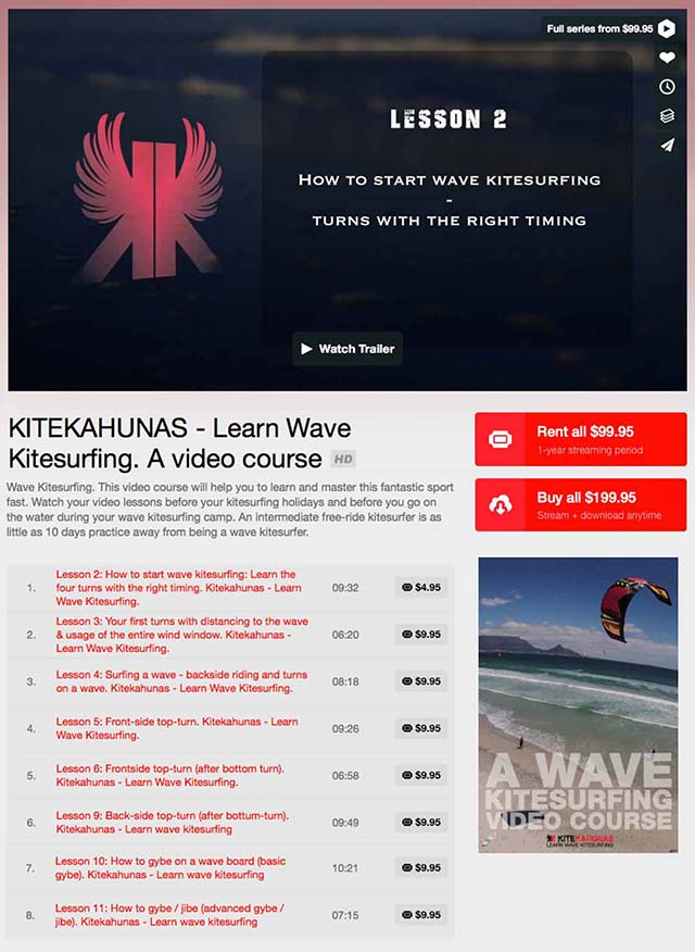 wave kitesurfing tutorial